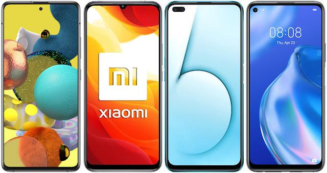 Samsung Galaxy A51 5G vs Xiaomi Mi 10 Lite 5G vs Realme X50 5G vs Huawei P40 Lite 5G