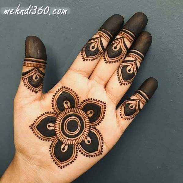 Arabic Indian Mehndi design Front Hand
