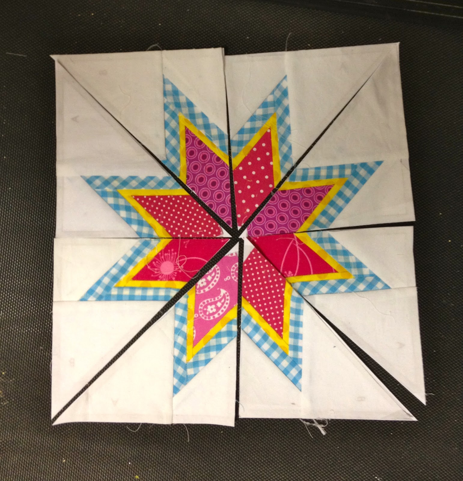 That S My Letter Diy Lone Starburst Paper Pieced Pillow