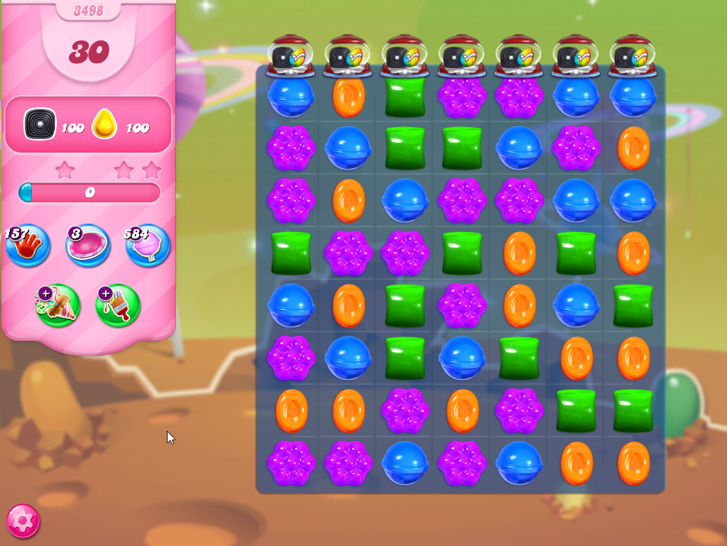Candy Crush Saga level 3498