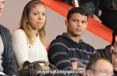 Thiago Silva and his wife Isabele