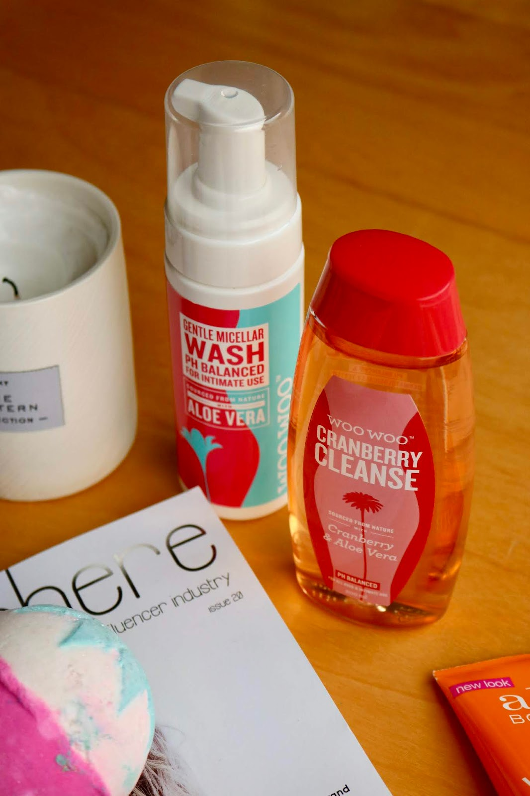 WooWoo Pamper It Micellar Wash and Cranberry Cleanse Wash