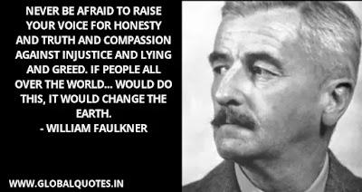 williams faulkner quotes on death