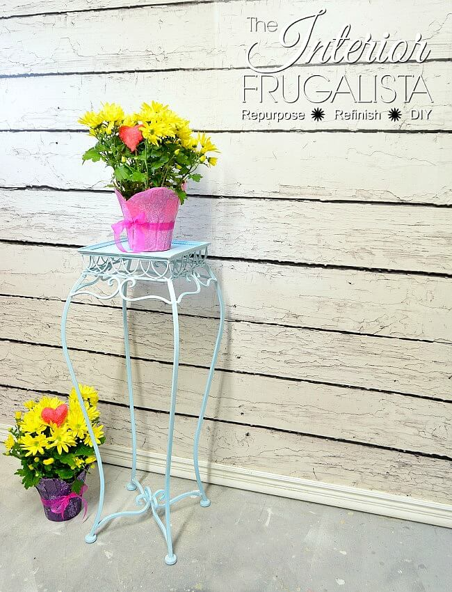 Plant Stand Table Side With Coastal Charm