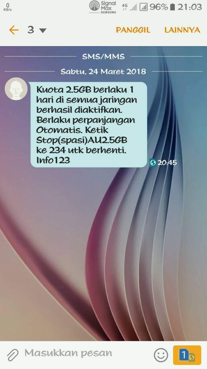 Cara Stop Paket Internet Tri 2 5gb Rp2000 Terbaru Ferguso Blog