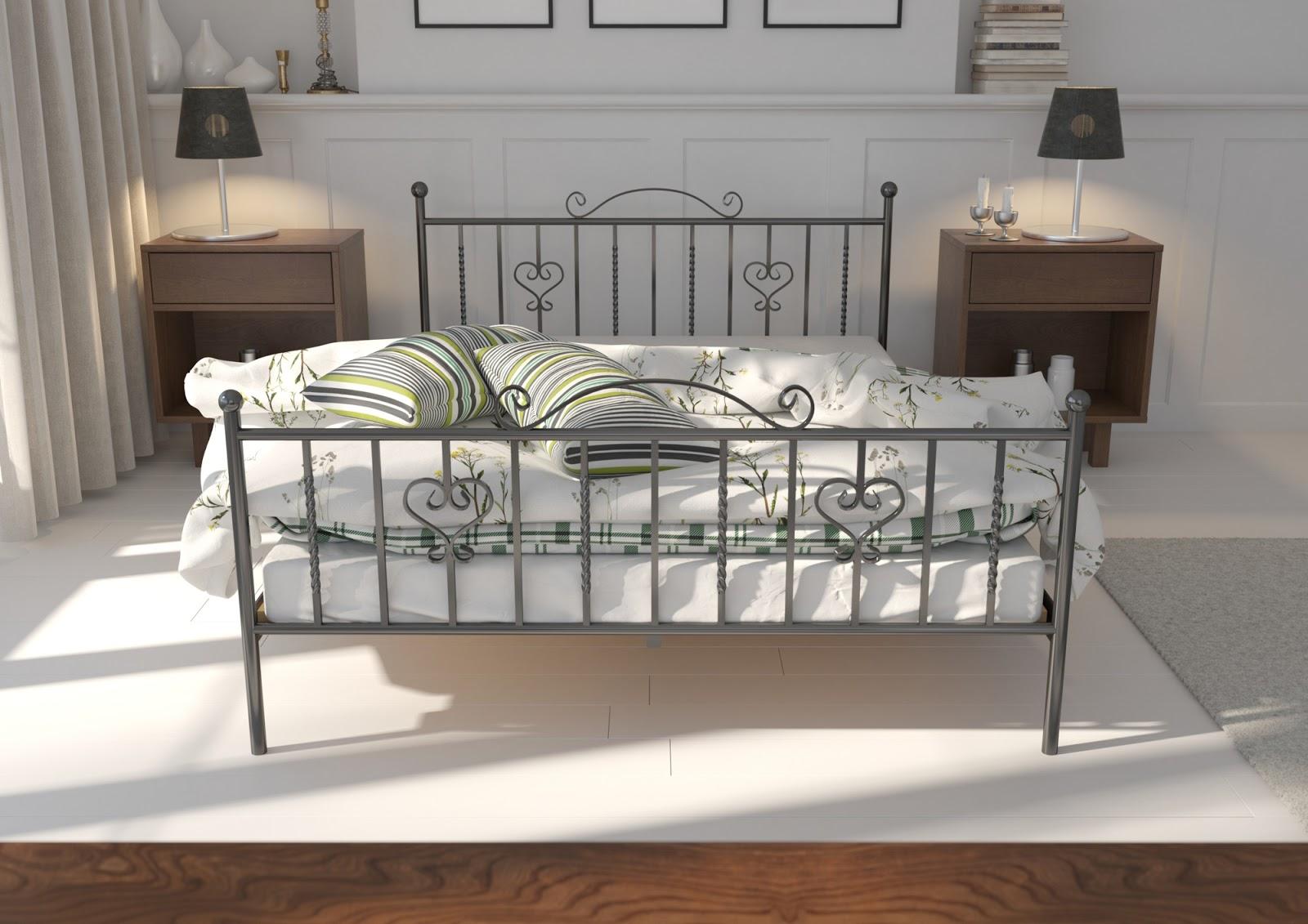 Łóżko metalowe wzór 4