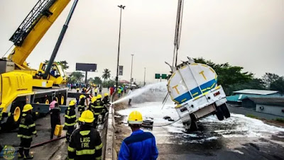 Tragedy averted as tankers spill fuel in Lagos