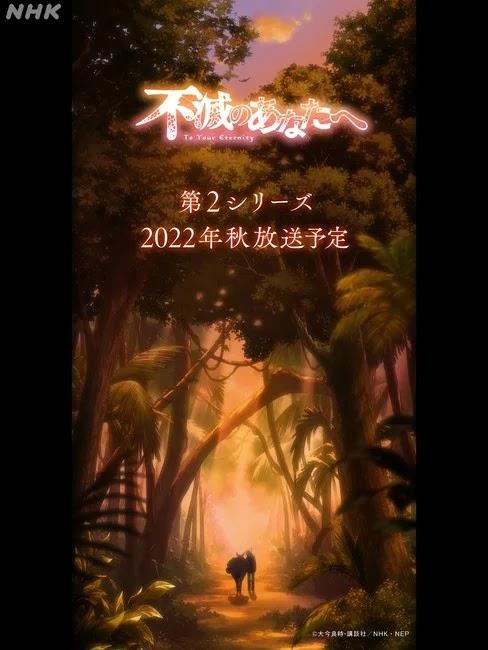 Anunciada segunda temporada de Fumetsu no Anata e (To Your Eternity).