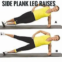 Side plank leg lifts