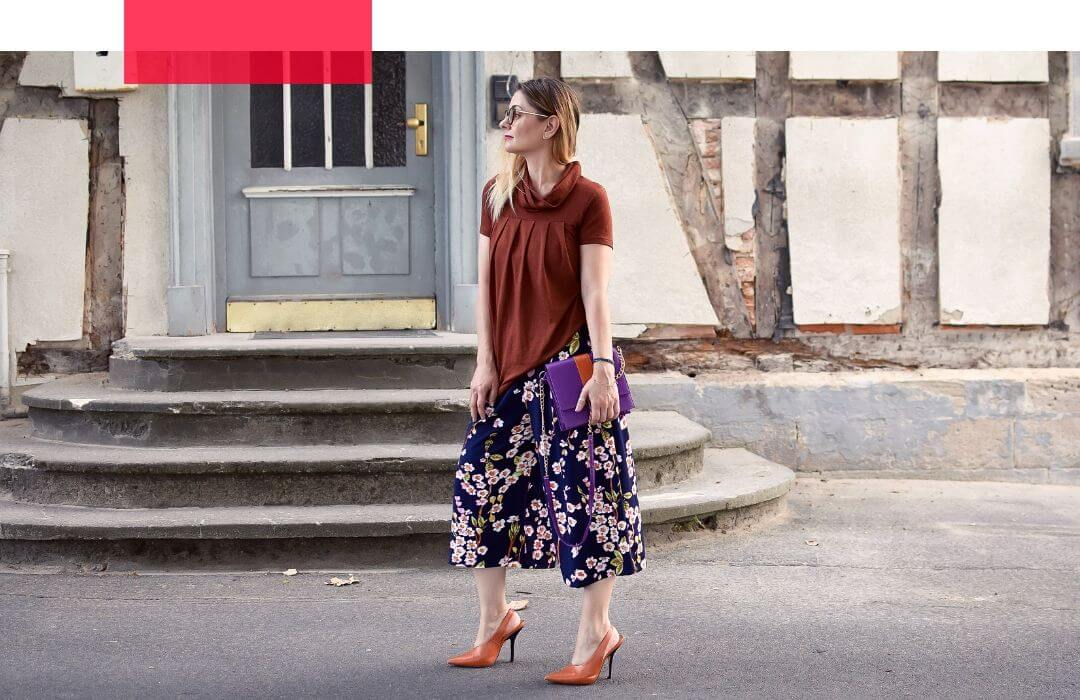 Culotte-Sommer-kombinieren-High-Blumenmuster