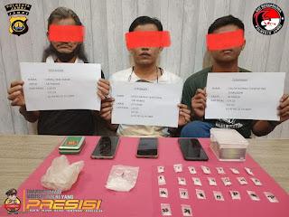 Tim Opsnal Sat Resnarkoba Polresta Jambi Ungkap Kasus TP Narkoba jenis sabu sebanyak 34,73 grami