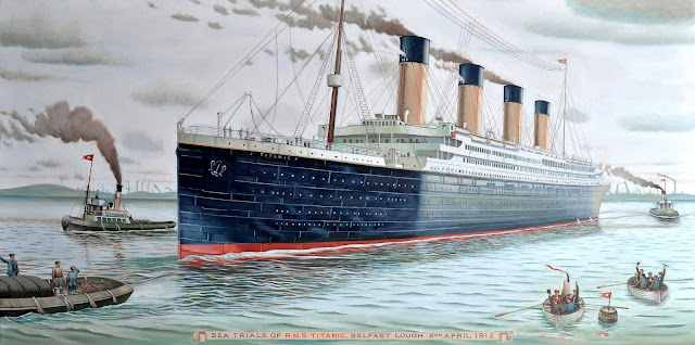 Image: Sea Trials of RMS Titanic, 2nd of April 1912 | From Wikimedia Commons, the free media repository