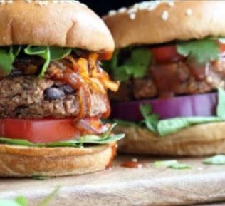 Grillable Veggie Burger & Black Bean Sunflower Seed Burger