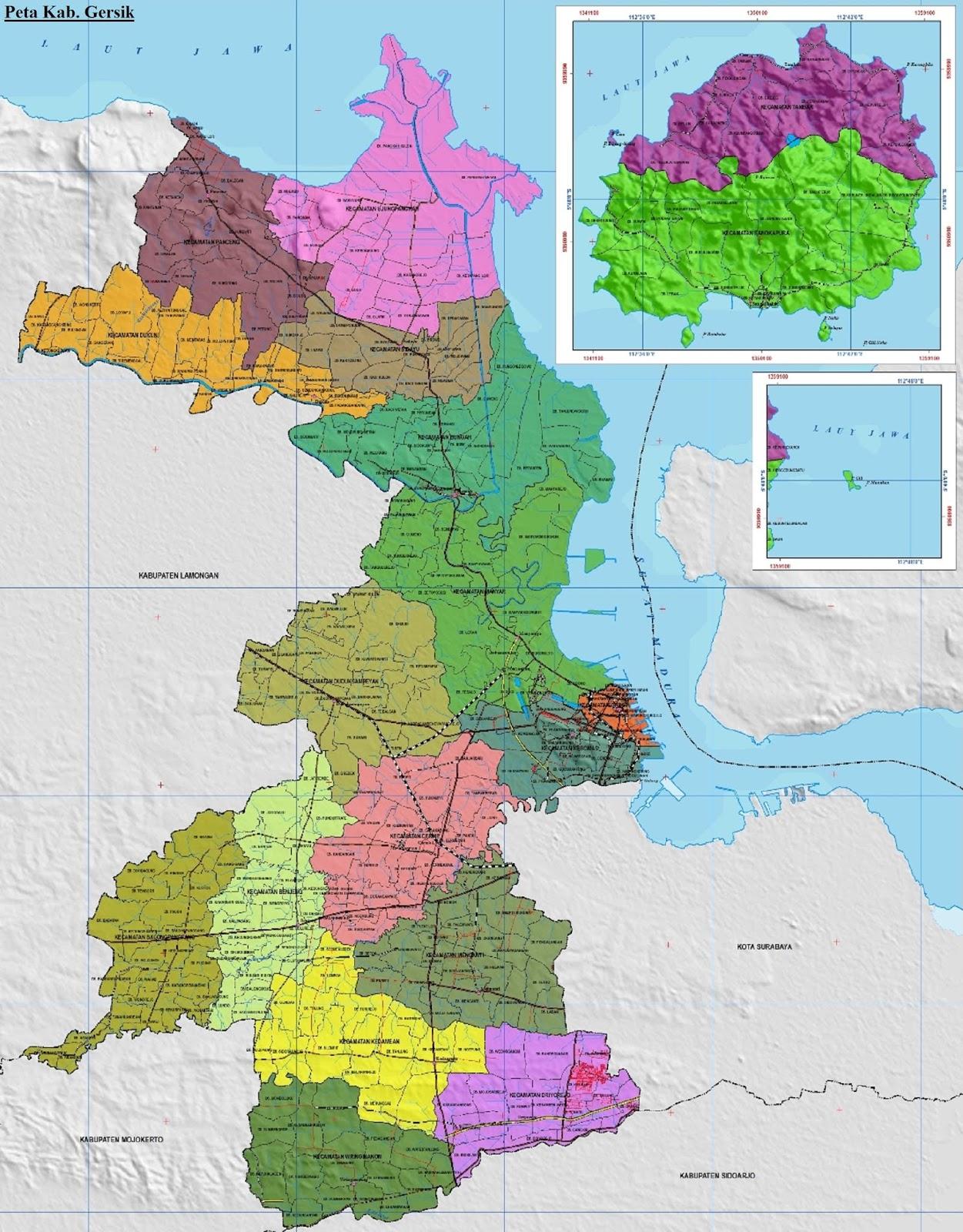 Peta Kabupaten Gresik