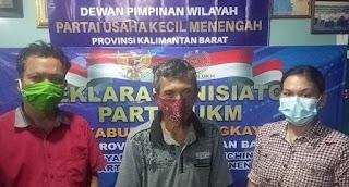 Deklarasi Inisiator Partai UKM DPD Kabupaten Bengkayang 2021