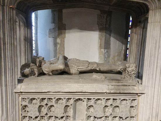Photograph of the tomb of Thomas Frowyk d.1523 in the Chantry Chapel at St Giles, South Mimms Image by David Brewer released under Creative Commons BY-NC-SA 4.-