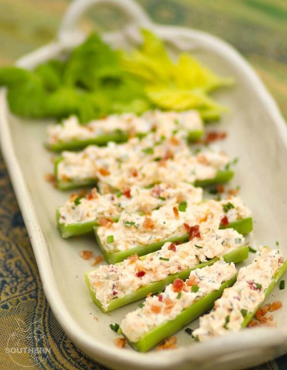 Outrageously Good Stuffed Celery