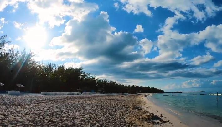 Playa de isla Pasión de Dia Soleado