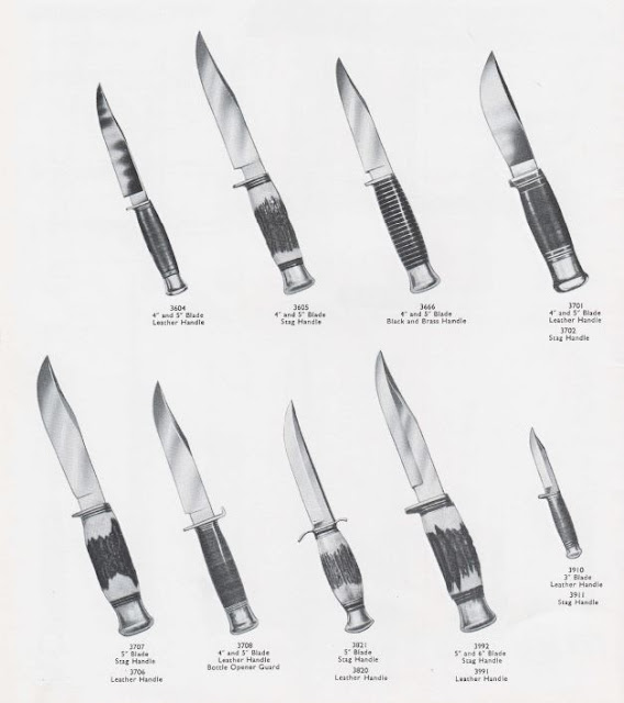 Taylor's Eye Witness, Sheffield Fixed Blade Hunting and Sheath Knives