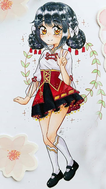 chibi cute anime girl wallpaper phone