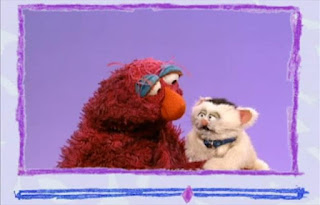 Little Murray Sparkles then starts licking Telly. Sesame Street Elmo's World Bath Time Video E-mail