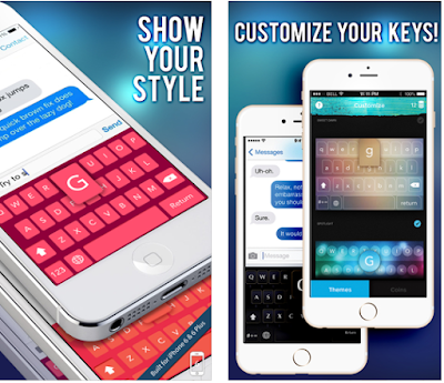 Fleek Keys, you can get colorful keyboards to be used anywhere you can type including instagram, iMessage, Whatsapp, Kik, Line, Wechat and more