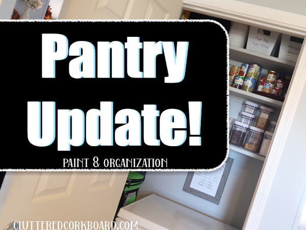 Painting the Pantry / Organizing / and Free Printable