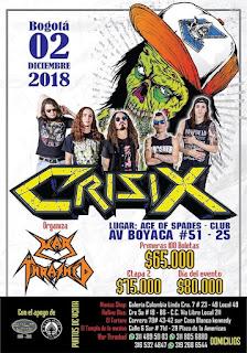 Concierto de CRISIX en Bogota 2018