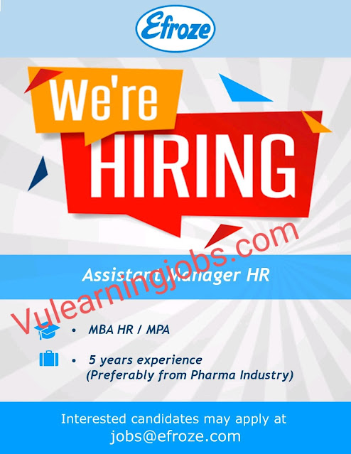 Efroze Chemical Industries (Pvt.) Ltd Jobs 2020 For Assistant Manager HR Latest