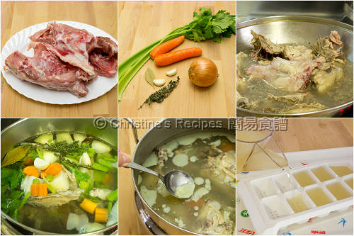 雞湯製作圖 How To Make Chicken Stock