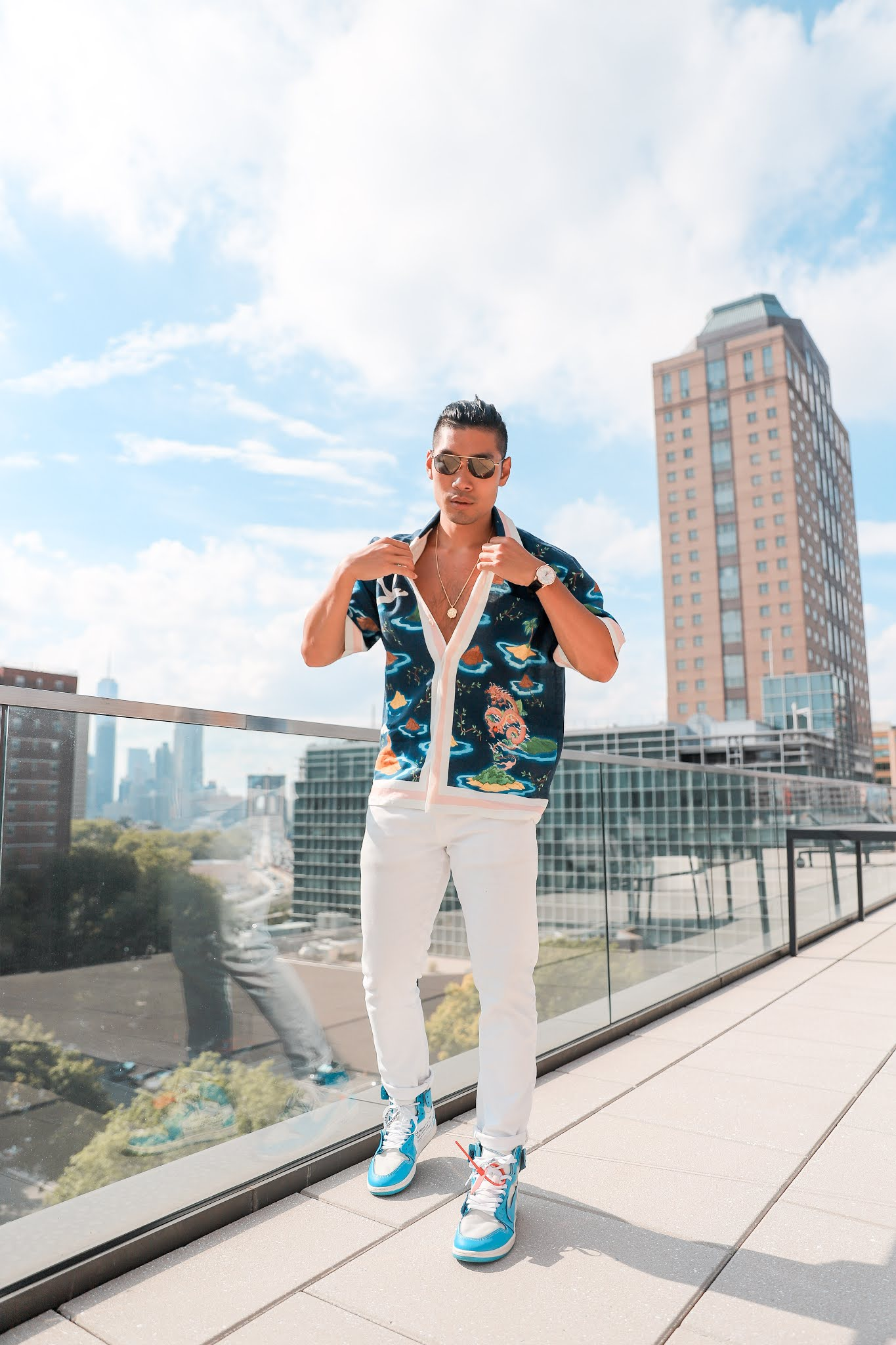 How to Style a Busy Patterned Shirt   Casablanca   Men's Summer Fashion