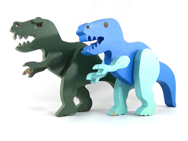 Handmade Wooden Toy Dinosaurs T-Rex Tyrannosaurus Rex