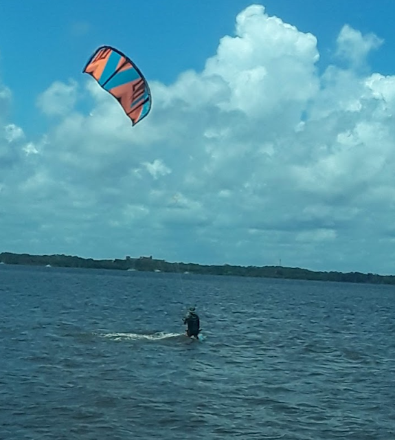 1 Kite Surf, 1 Wind Surf, Titusville, A Max Brewer Bridge, Kite Surf, Wind Surf, Florida's East Coast, Florida East Coast Surf Fishing, Cocoa Beach Pictures, cu on the beach,