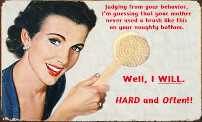 brush spanking