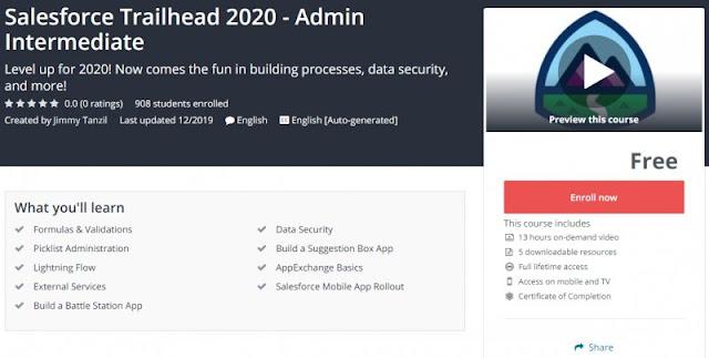 [100% Free] Salesforce Trailhead 2020 - Admin Intermediate