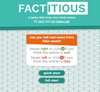 Factitious - A Game That Tests Your Ability to Spot Fake News