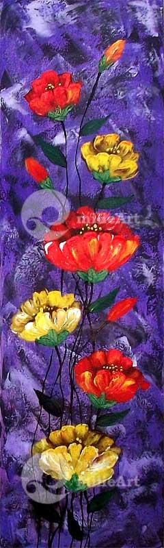 lukisan bunga murah