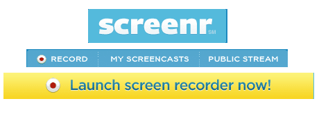 Free HD Screen Recording  For Windows -Screenr