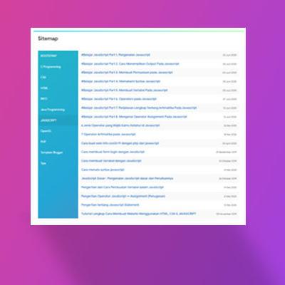 Cara Membuat Sitemap Blogger Keren 2020