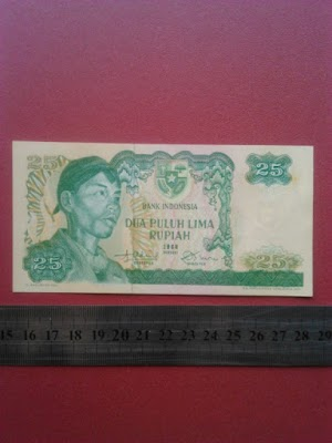 25 rupiah tahun 1968