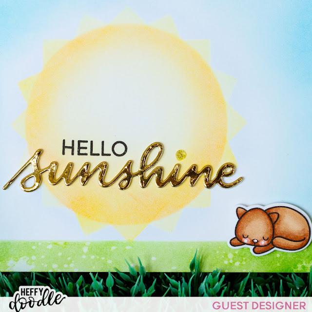Purrfect Day Cat Cards | Heffy Doodle Friends Blog Hop