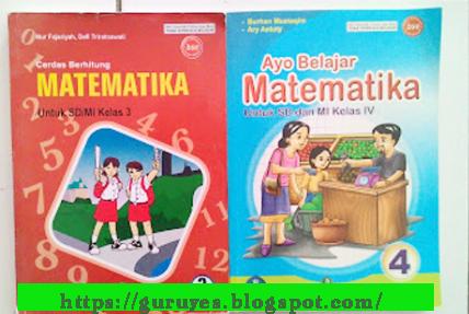 Buku Matematika kelas 1, 2, 3, dan 4 K13 lengkap