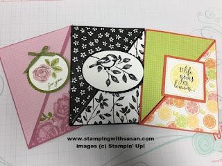 Stampin' Up! Fun fold Petal Palette Suite Tutti-Frutti