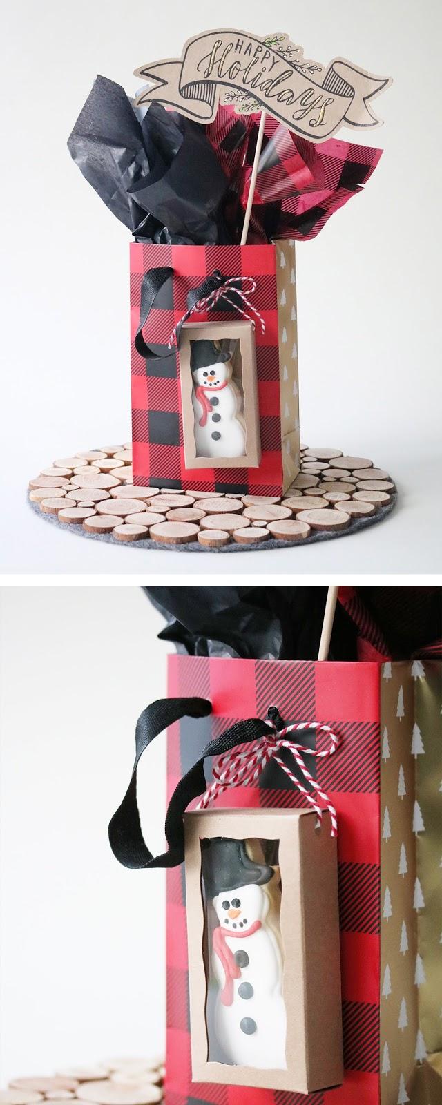 edible gift topper inspiration for holiday gift wrapping | Creative Bag and Bake Sale Toronto