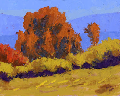 art painting autumn landscape abstract