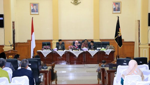 Gelar Paripurna, DPRD Umumkan Walikota Wakil Walikota Pariaman Terpilih