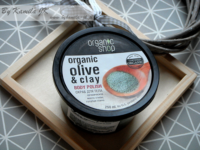Organic Shop peeling do ciała Organic olive & clay