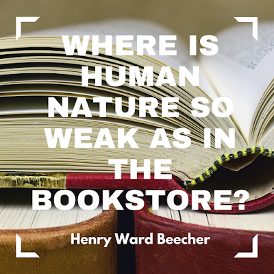 Where is human nature as weak as in the bookstore? #books #readeveryday