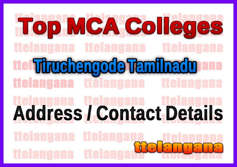 Top MCA Colleges in Tiruchengode Tamilnadu