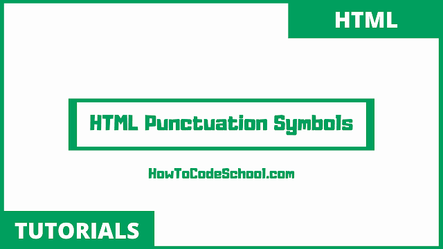 HTML Punctuation Codes
